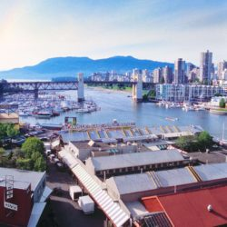 Granville Island View From Above Towards Vancouver